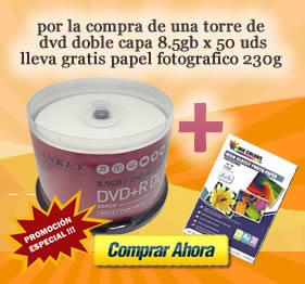 oferta- torre-de-dvd-doble-capa8.5g+papel-fotografico-230g